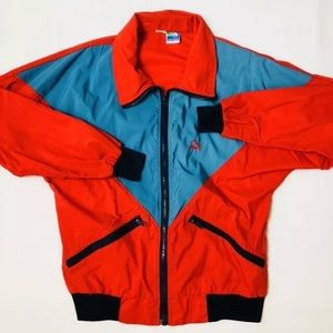 "Vtg PUMA Colorblock Track Jacket Windbreaker 52"""